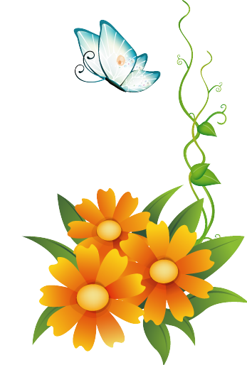 _res__orange_flowers_with_butterfly_by_hanabell1-d6n1i0i.png